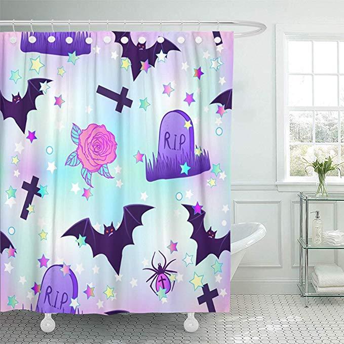Amazon Com Emvency 72 X72 Shower Curtain Bathroom Waterproof