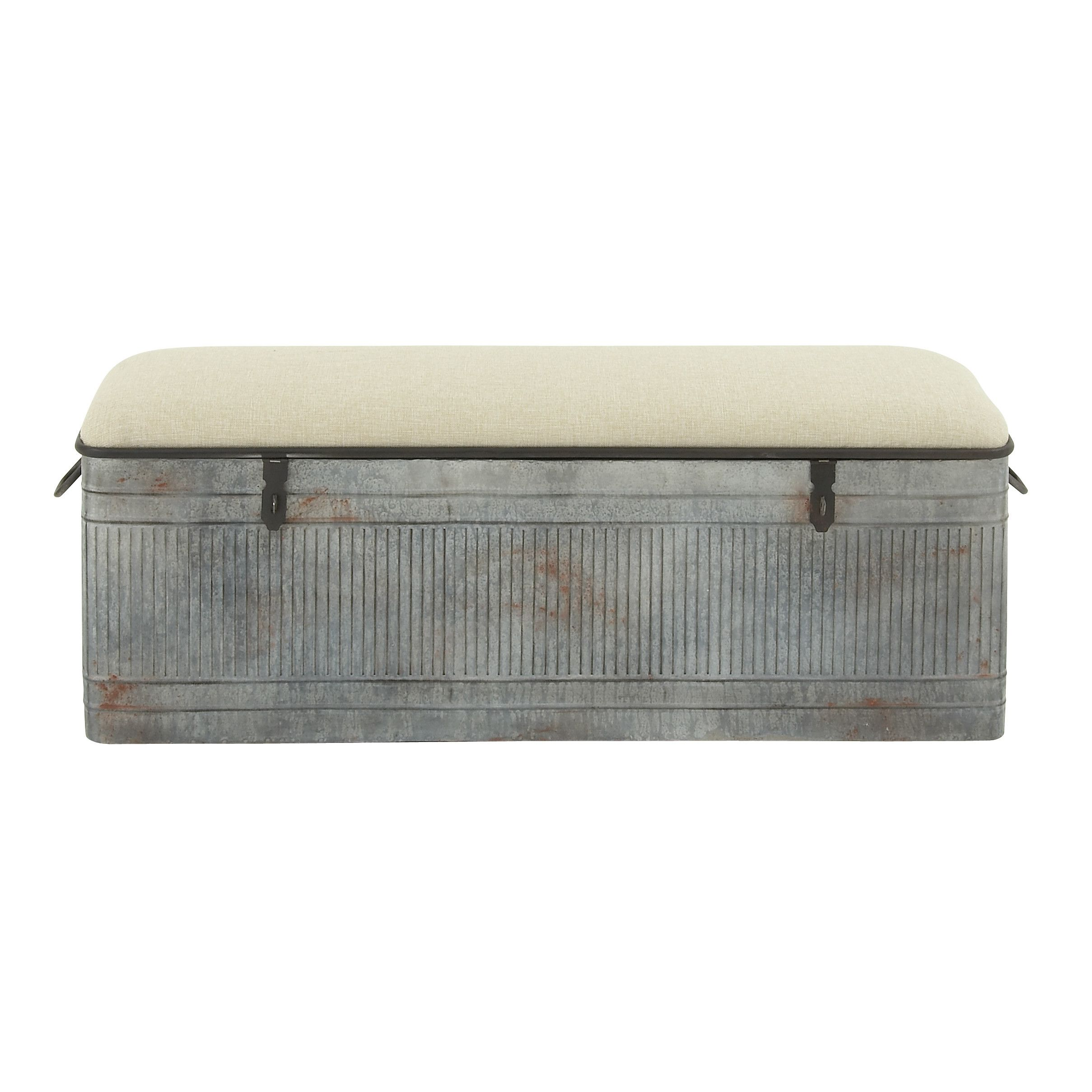 Dublin Upholstered Storage Bench Fabric Bench Upholstered