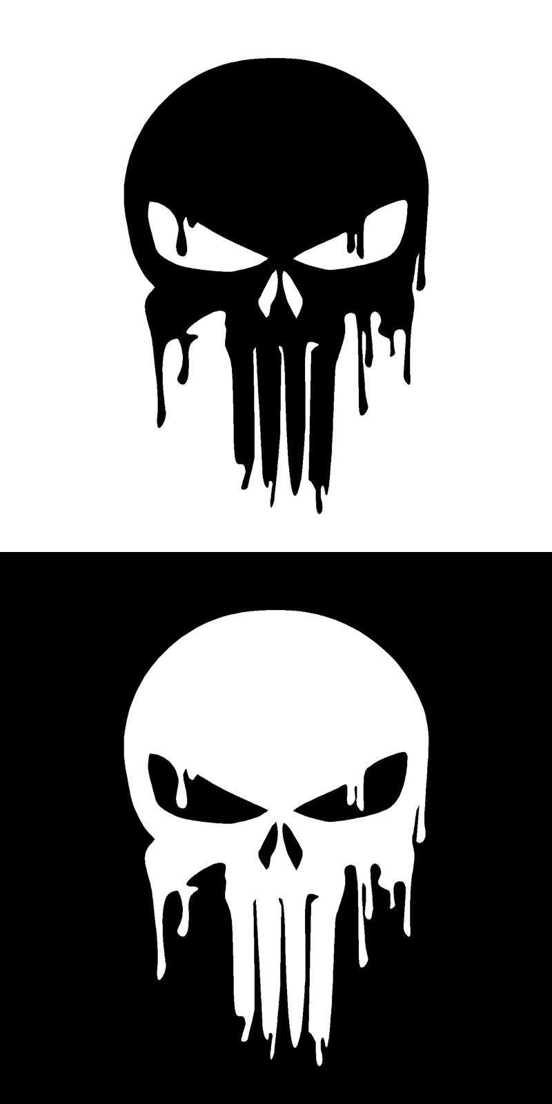 Visit to buy 15 210 1cm dripping melting bloody punisher skull vinyl car stickers decals motorcycle decorative accessories c4 0941 advertisement