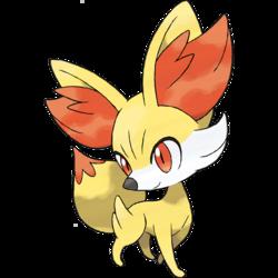 Fennekin- Fox Pokémon,Starter\ Fennekin is the 'Fire' type starter Pokémon in Generation VI (games X and Y).