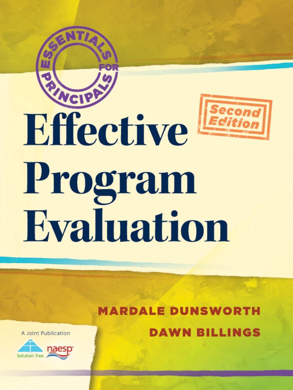 Effective Program Evaluation (eBook) Program evaluation