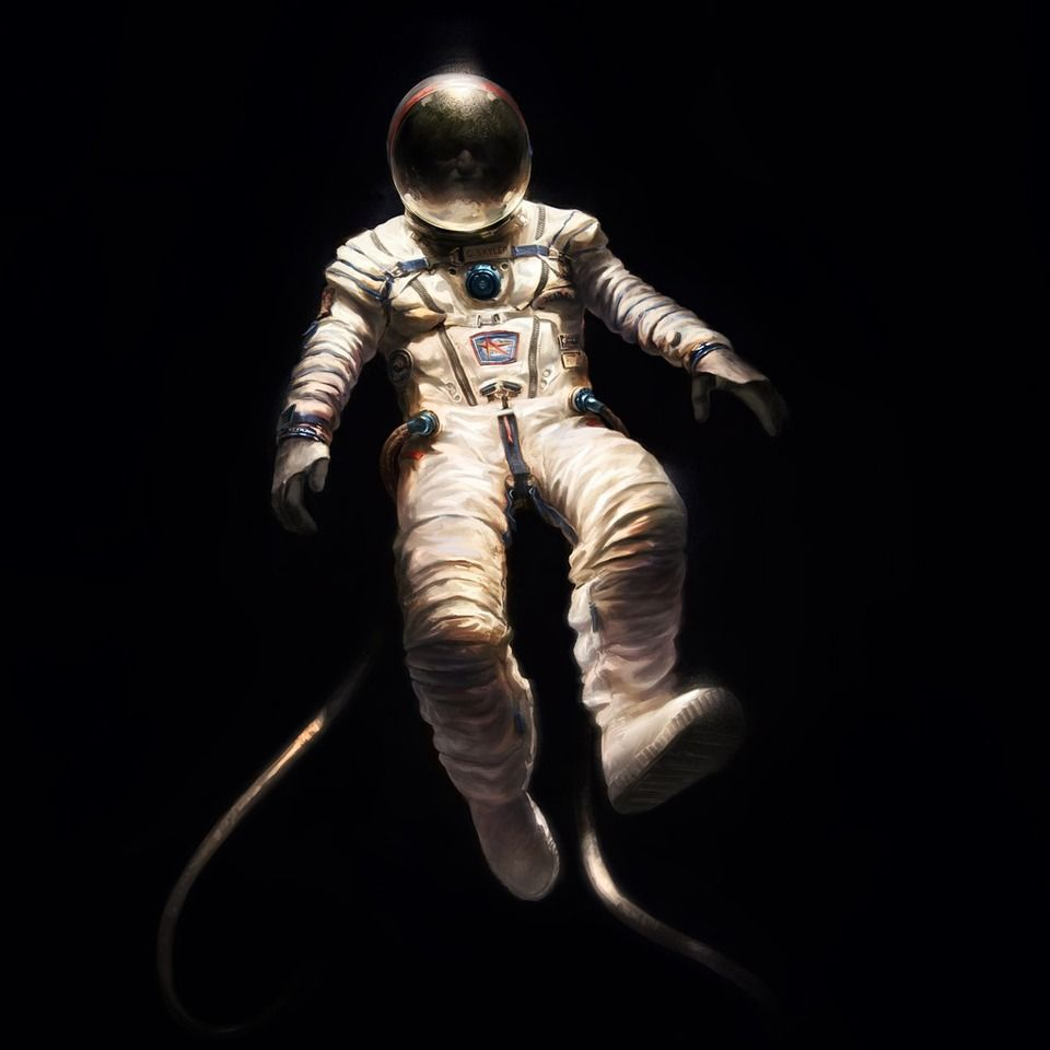 an astronaut floating in space - photo #21