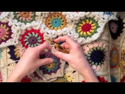 Cómo unir círculos de crochet. | - | Pinterest | Stricken und häkeln ...