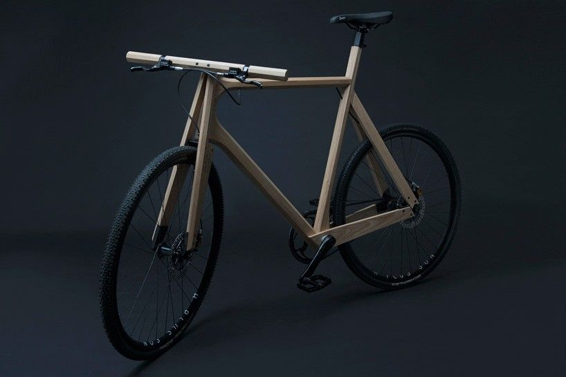 paul timmer's vibration absorbing wooden bikes crafted from solid ash