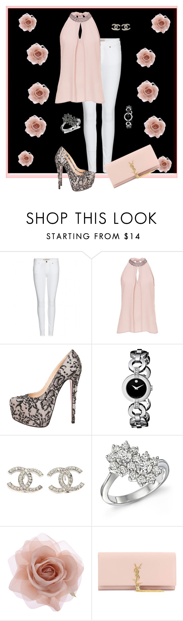 """""""In a meeting"""" by xan86 ❤ liked on Polyvore featuring Burberry, Vera Mont, Christian Louboutin, Movado, Chanel, Bloomingdale's, Accessorize and Yves Saint Laurent"""