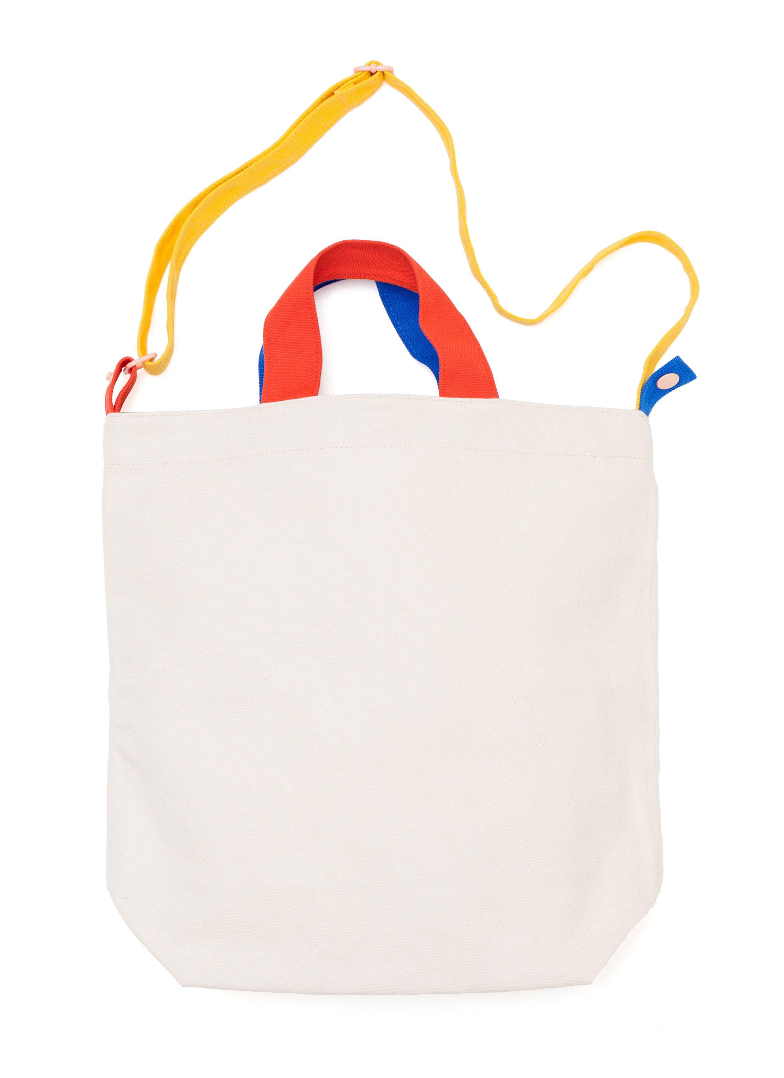 8c63e4be8a57 ALL Knitwear + BAGGU Canvas Color Block Duck Bag www.BAGGU.com