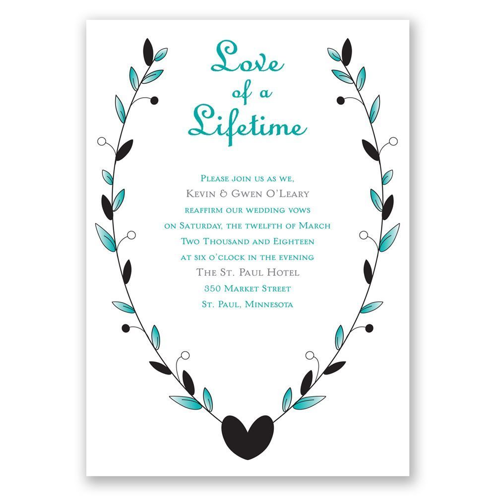 Love of a Lifetime - Vow Renewal Invitation | Vow renewal ...