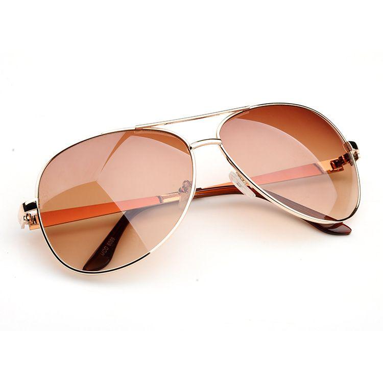 2014-Shopping-Travel-Necessities-Fashion-Glasses-Gold-UV-Sunglasses-Women-Eyewear-Oculos-aviador-Free-Shipping