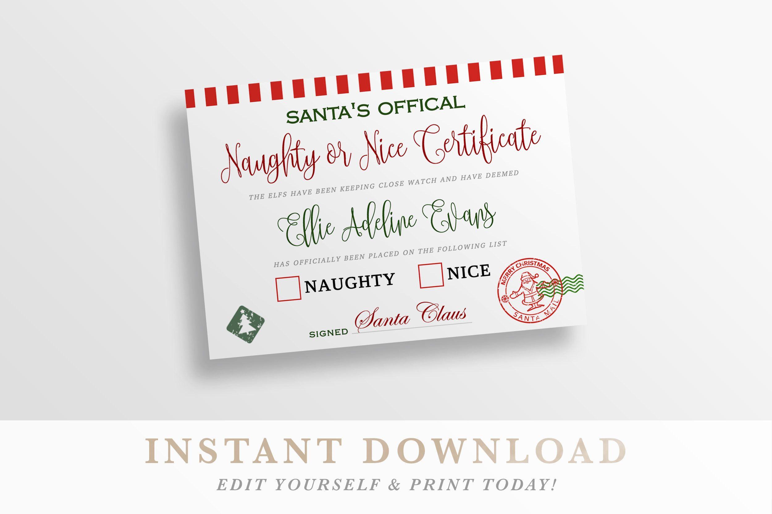 naughty or nice christmas party invitations - econhomes.com