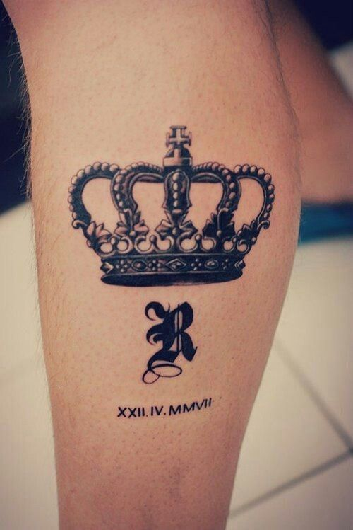 40b584a76 Crown, initial and date Queen Crown Tattoo, Crown Tattoo Design, Crown  Tattoos For