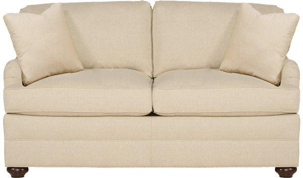 Office Loveseat In Leather, Vanguard Furniture: 603 MS East Lake Mid Sofa