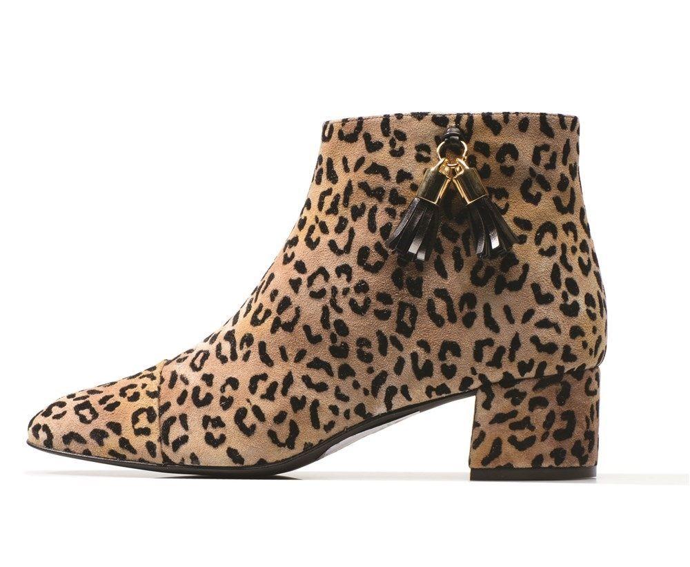 Botín de estampado leopardo de Sarenza