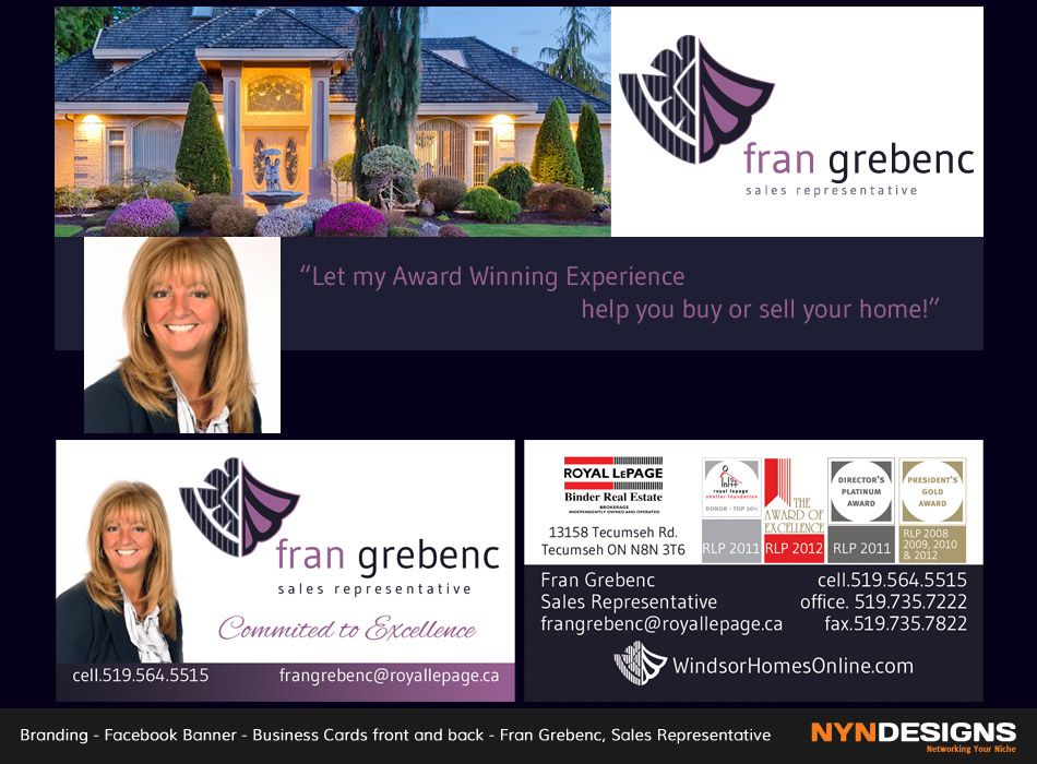Facebook banner business cards front back fran grebenc sales business cards front back fran grebenc sales representative royal reheart Gallery