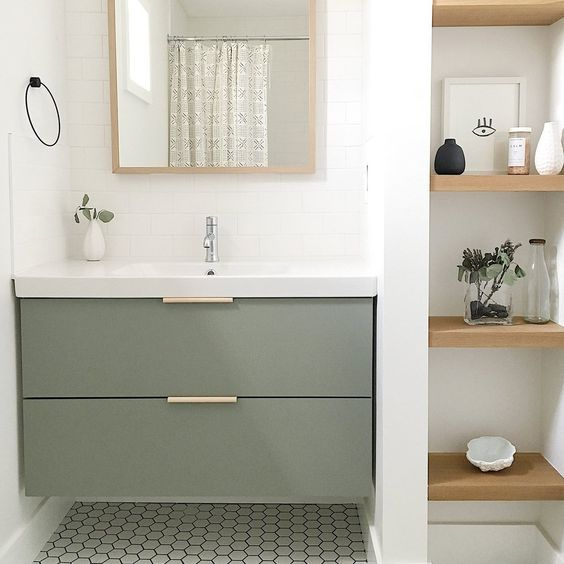 Photo of DIY Slab Doors for IKEA Godmorgan vanities by Semihandmade