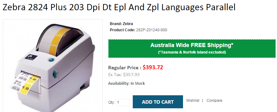 Looking for Zebra 2824 Plus 203 Dpi Dt Epl And Zpl