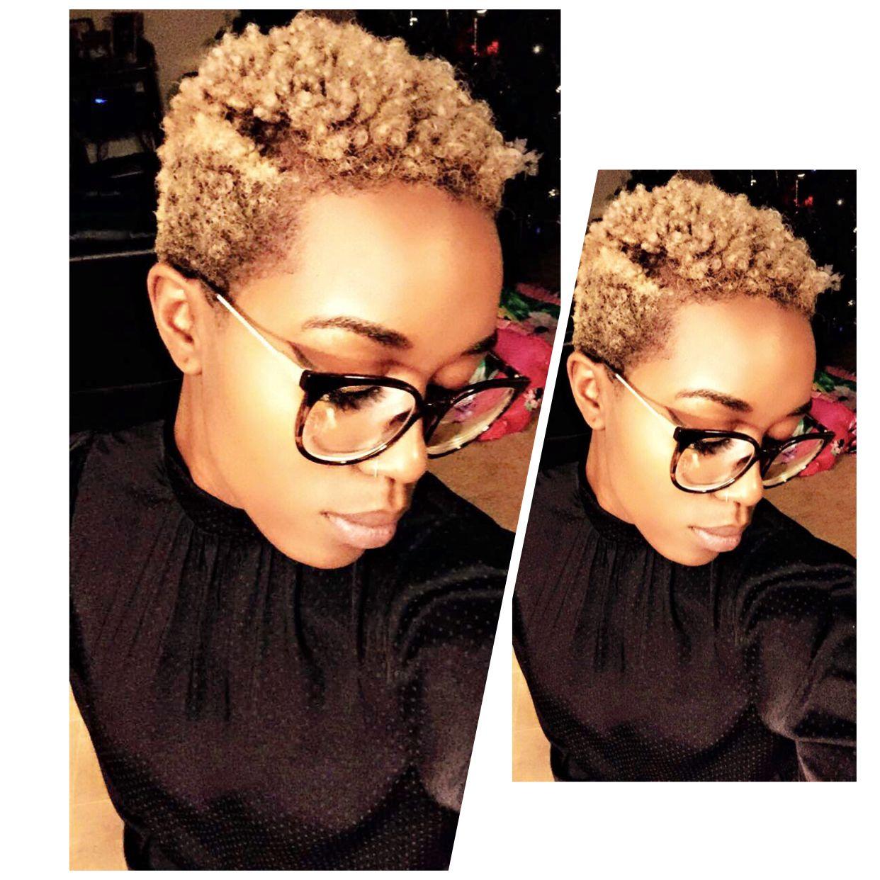 Blonde Twa Texture Shot Dark Skin Twa Hair Color Hair