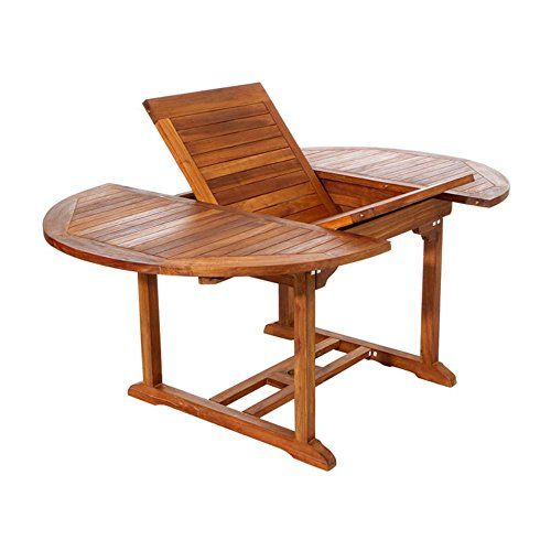 All Things Cedar Teak Oval Extension Patio Dining Table A Https