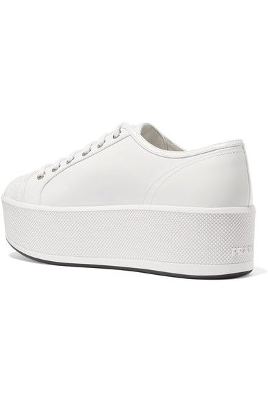 Coloured Sole Sneakers - IT39 / White Prada Ss6rzKJq
