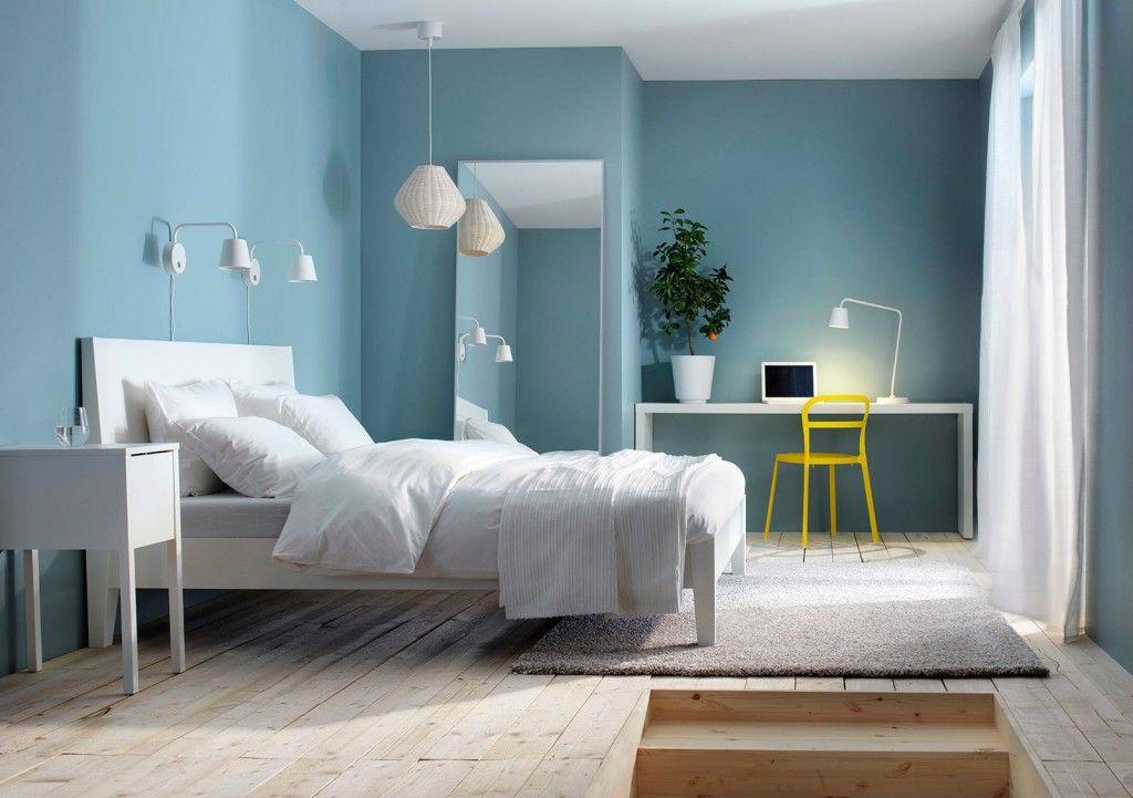 Camera da letto a tinte chiare | Illuminazione camera da ...
