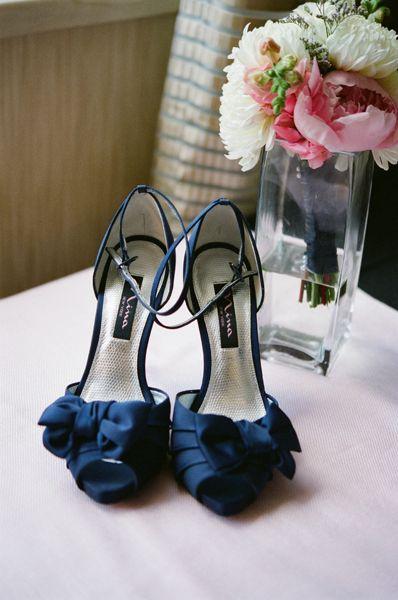 Wedding shoes, Blue heels
