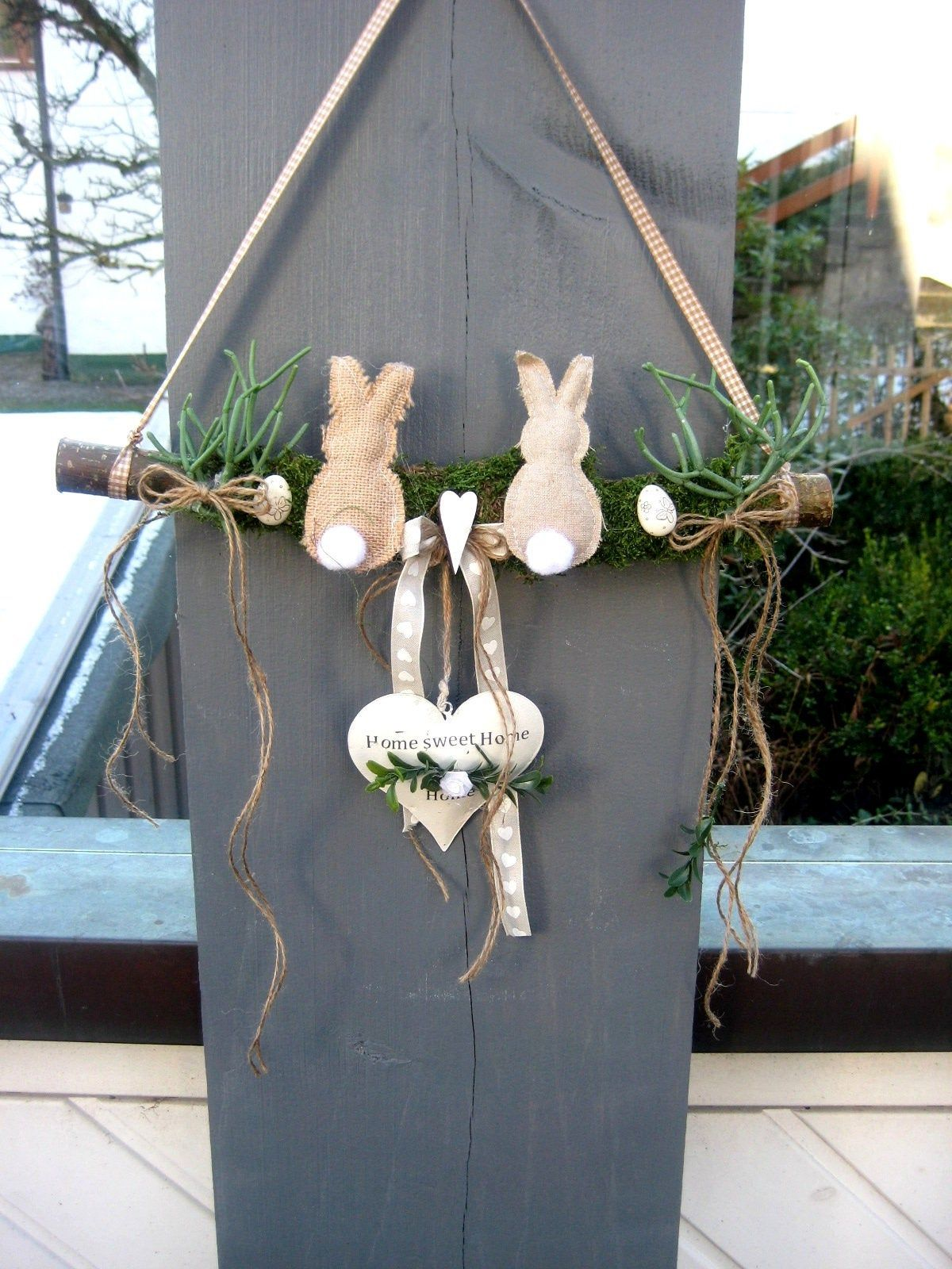 durable door wreath, window decoration interior and exterior decoration, gift idea, wreath, front door decoration, entrance decoration, Easter bunny