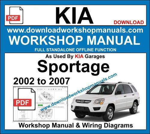 Kia Sportage 2002 To 2007 Workshop Repair Manual