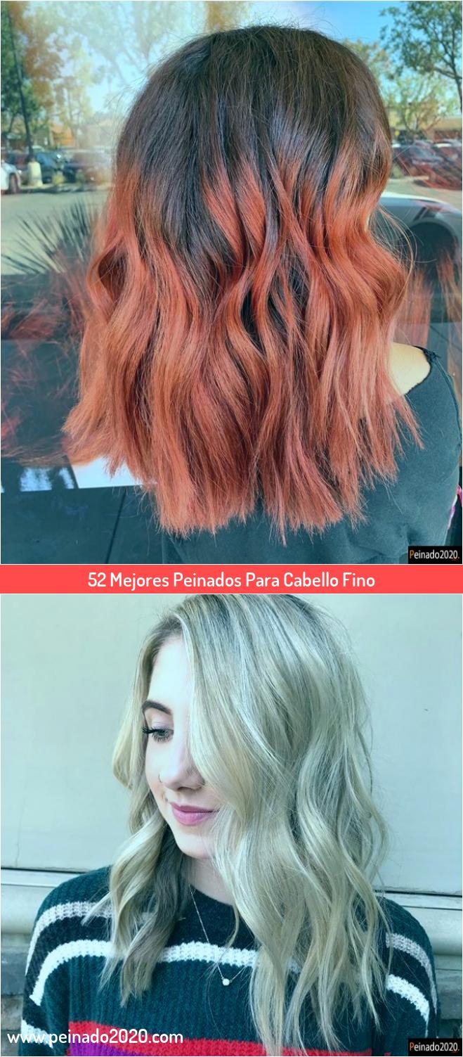 Acogedor peinados para pelo fino y escaso Colección de estilo de color de pelo - 52 Mejores Peinados Para Cabello Fino em 2020