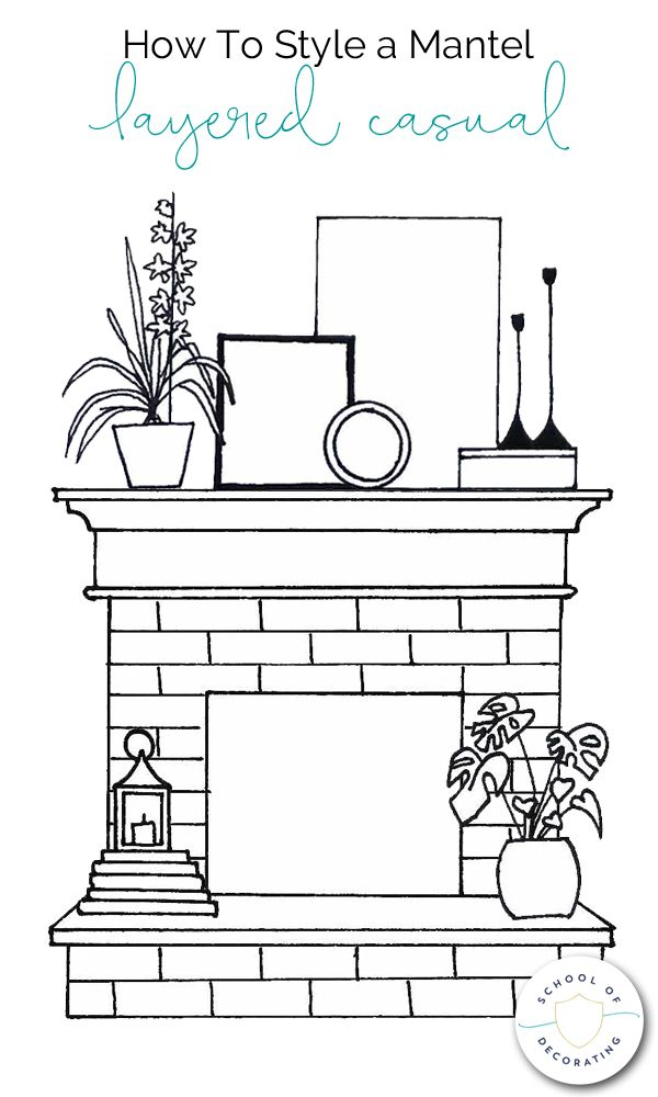 Photo of How To Style a Mantel Four Ways – whether you want a casual look or formal, ecle…