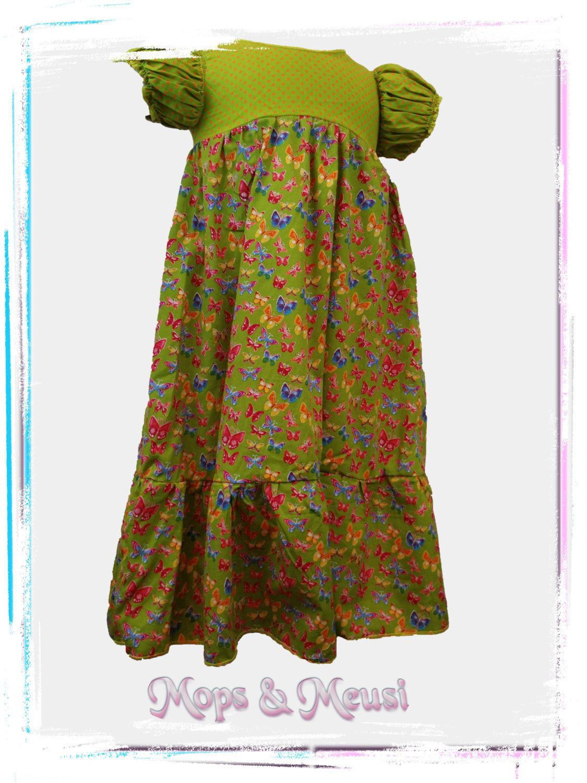 grünes Kleid Schmetterlinge Puffärmel 92 von MopsundMeusi auf Etsy ...