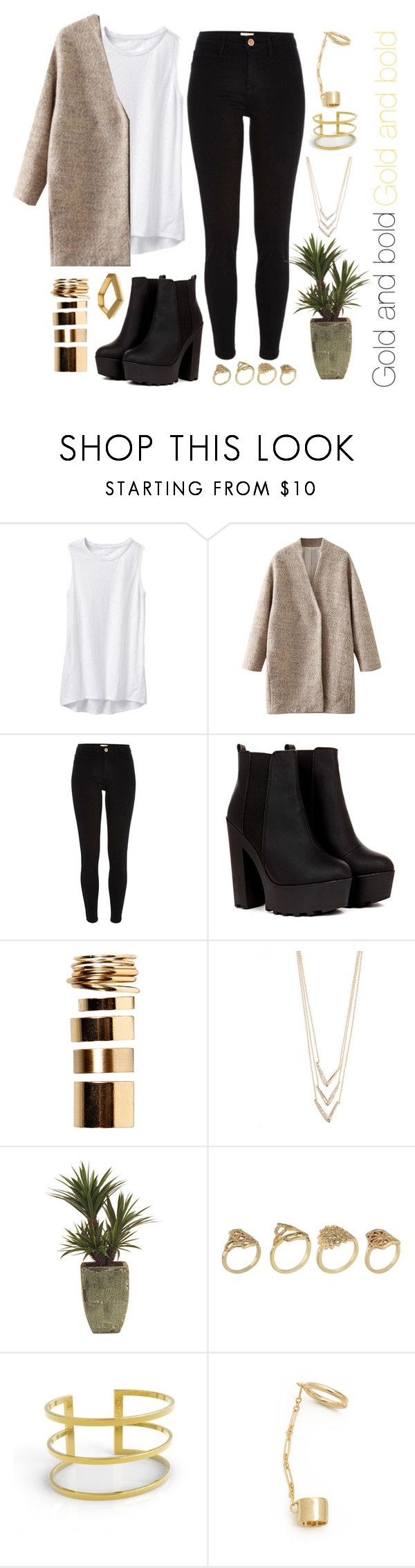 """Gold and Bold"" by jess ❤ liked on Polyvore featuring Athleta, River Island, Boohoo, Alexis Bittar, John-Richard, ALDO, Artelier, DANNIJO and ELYONA"