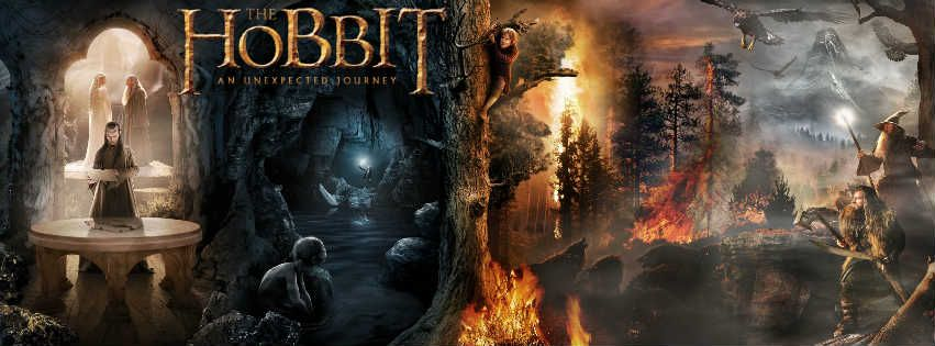 The Hobbit An Unexpected Journey - Facebook Cover
