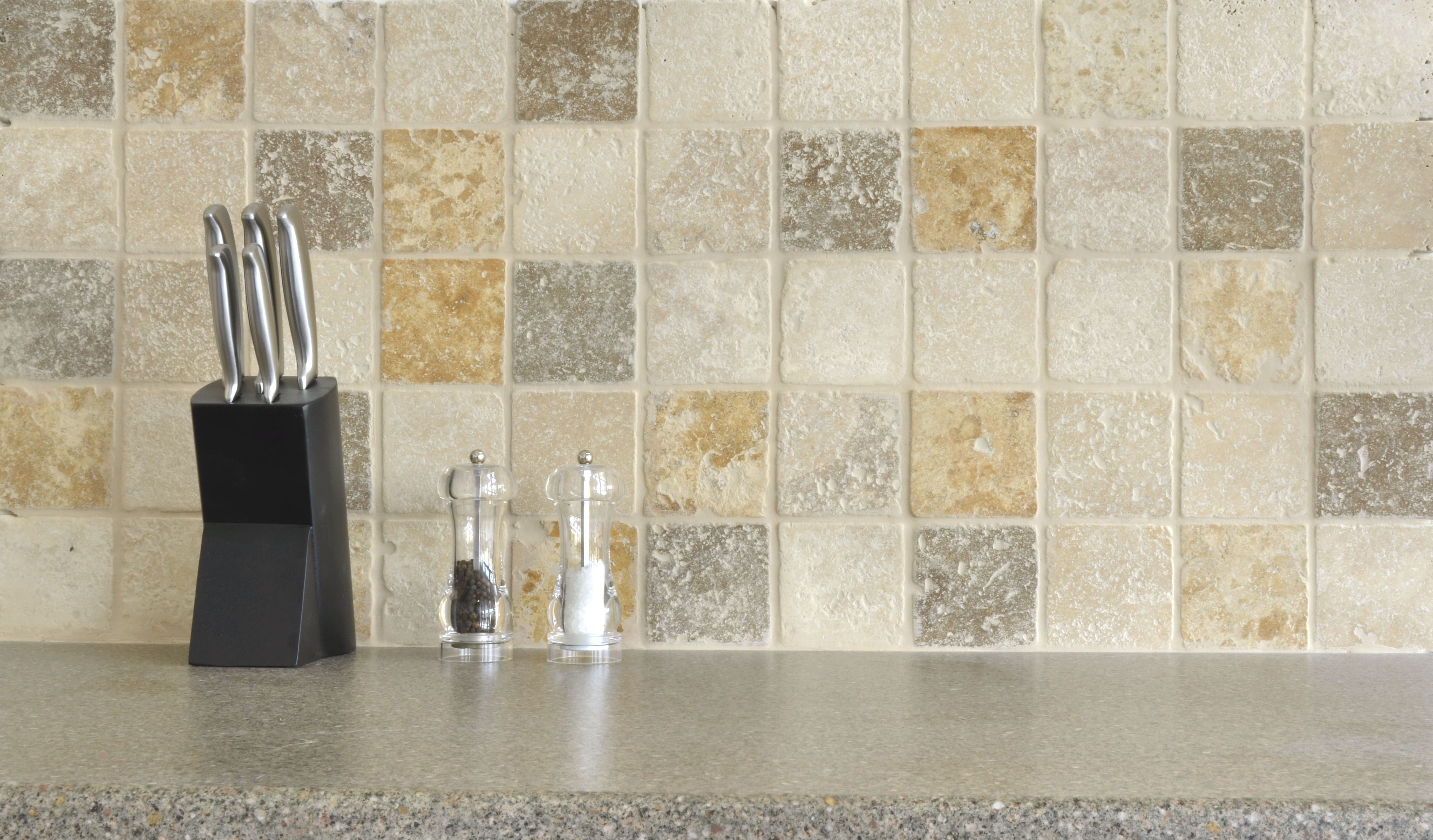 Tumbled Travertine Yellow White And Brown Mix Roomset Tiles Bathroom Wall Tile Tiles Natural Stone Kitchen