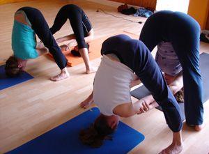 partner yoga pose double standing straddle  partner yoga