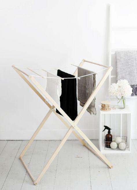Wäscheständer Holz diy wäscheständer aus holz selber bauen diy möbel holz