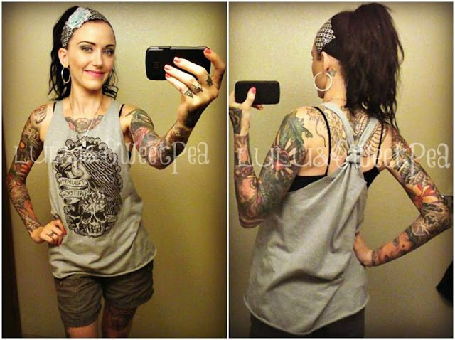 No sew DIY T-shirt to tank tutorial