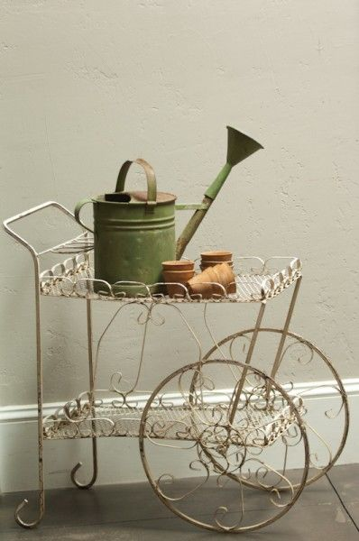 We Have A Vintage Garden Or Tea Cart Like This One For Rent At Southern Vintage Vintage Tea Cart Flower Cart Tea Cart