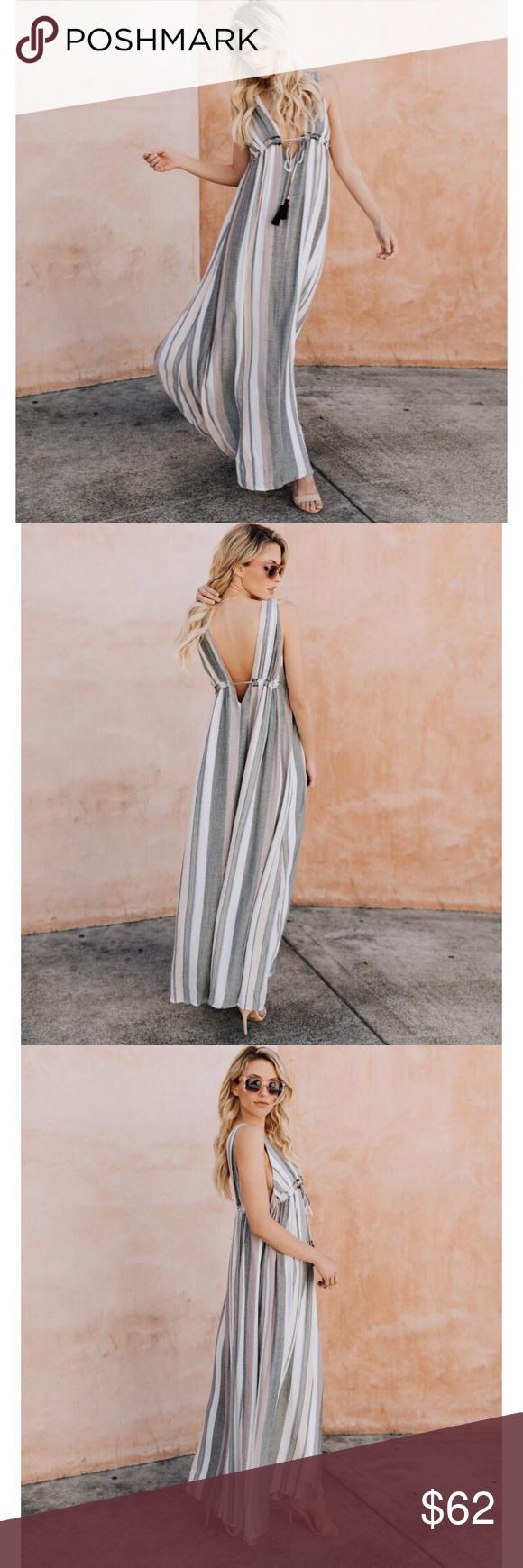 Vici Collection Saachi Striped Maxi Dress Striped Maxi Dresses Fashion Maxi Dress [ 1740 x 580 Pixel ]
