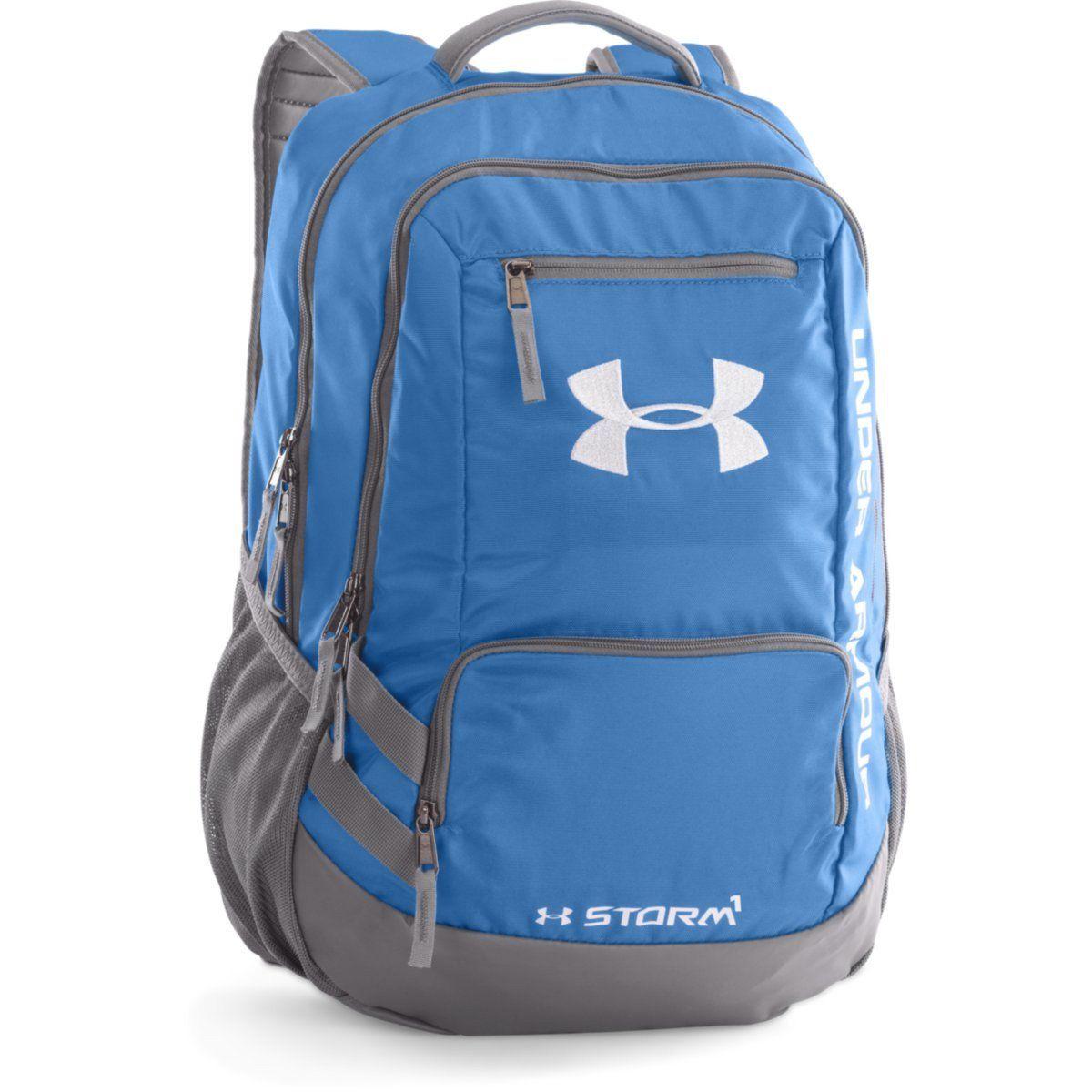 Under Armour Carolina Blue Black UA Hustle II Backpack   Products ... 66bce645be