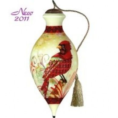 Holiday Cardinals Ornament Ne Qwa Connie Haley