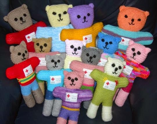 Knitted Teddy Bear Pattern For Charity : Craft Ministry: Red Cross Trauma Teddies Knitting Pinterest Red cross, ...