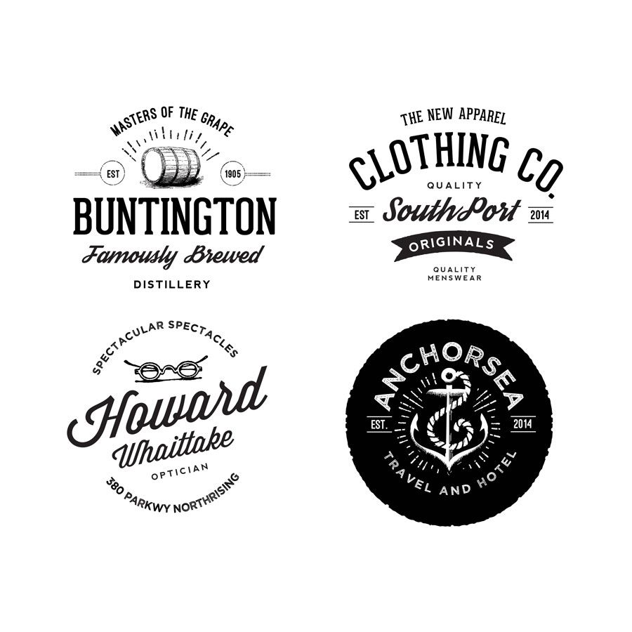 Free Vintage Clothing Line Logo Mockup In Psd Clothing Line Logos Logo Psd Retro Logos