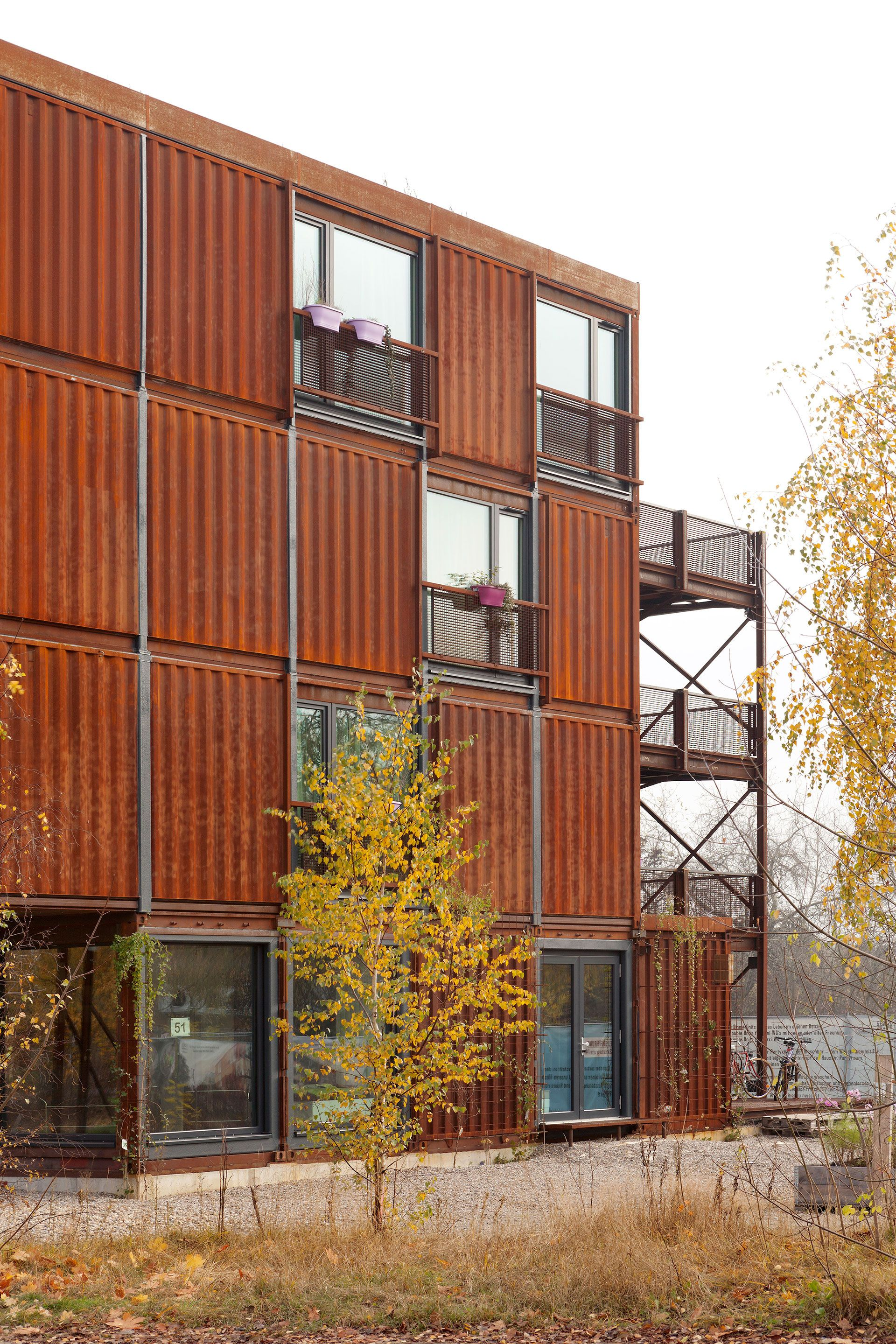 Container Haus Berlin Planterwald Berlin Student Housing Shipping Containers