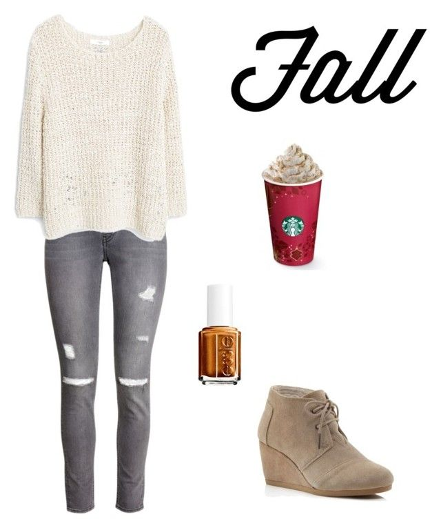 """Fall look #2"" by toty1008 on Polyvore featuring H&M, MANGO, Essie and TOMS"