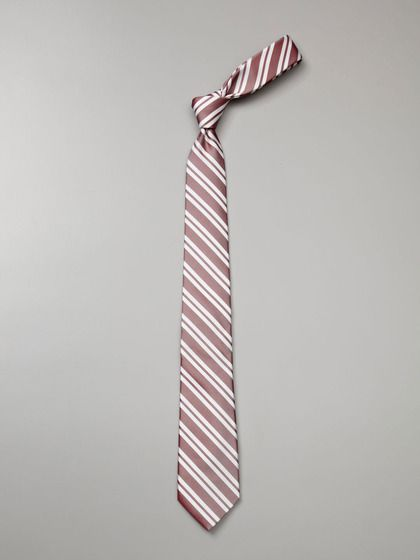 Original Penguin Silk Double Stripe Tie (Red)