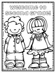 Image result for second grade first day of school coloring