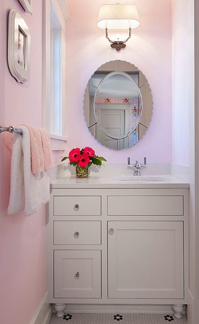 "terrific pink bathroom color idea | Interior Design Ideas - ""Girls Bathroom Paint Color ..."