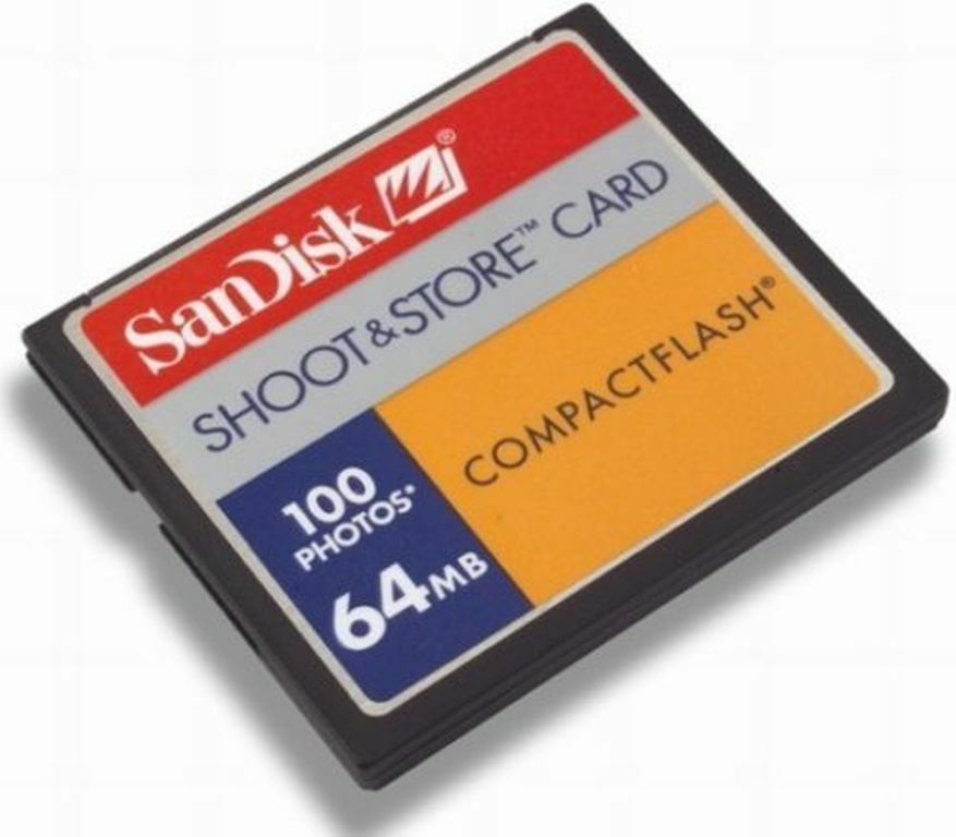 Sandisk Sdcfb Capturez Stockez 64 Mo 100 Images Compactflash
