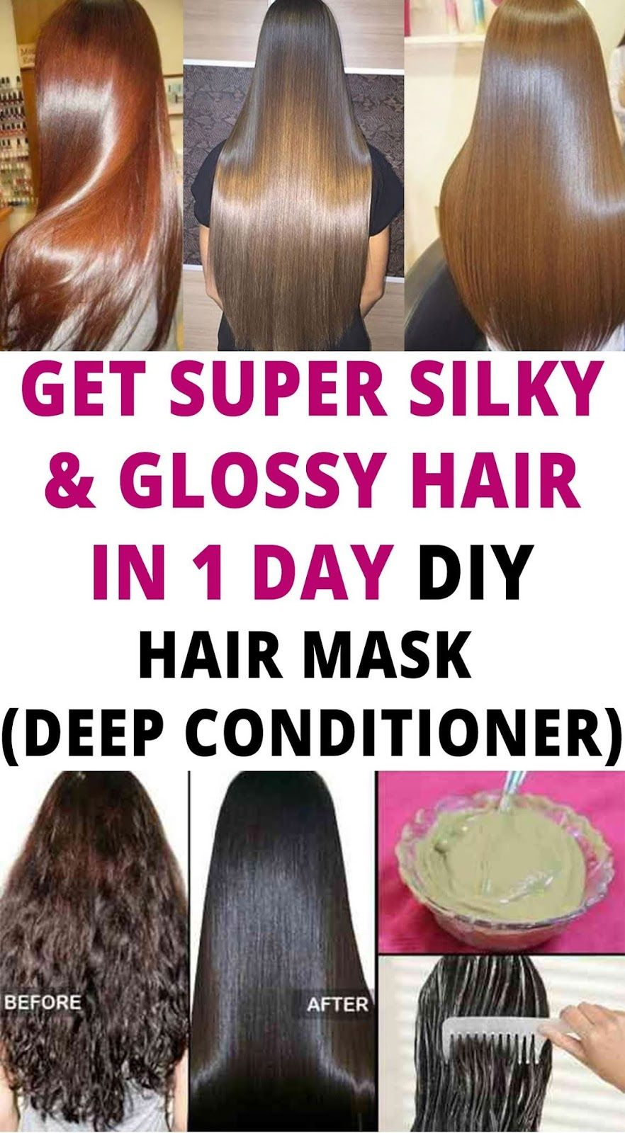 How To Get Smooth N Silky Hair At Home