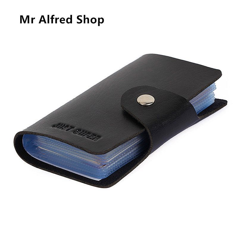 Leather Credit Card Holder/Case Card Holder Wallet Business Card Package PU Leather Bag