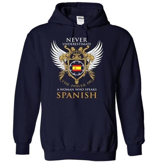 I Speak SPANISH - #unique gift #gift for kids. TAKE IT => https://www.sunfrog.com/LifeStyle/I-Speak-SPANISH-vyqudxtvgf-NavyBlue-13070825-Hoodie.html?68278